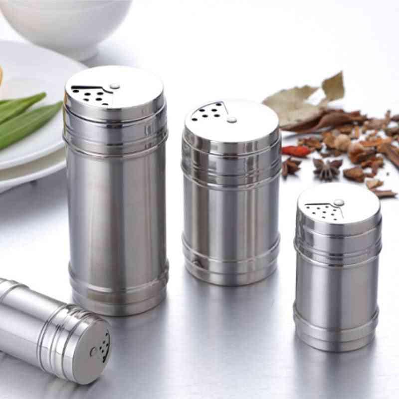Rotating Cover Salt Sugar Bottle, Multi-purpose Spice Spice Jar