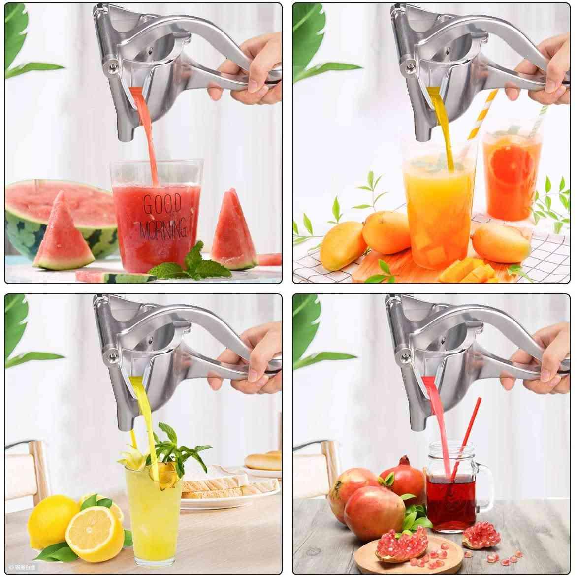 Manual Juice Squeezer, Hand Pressure Juicer Kitchen Fruit Tool