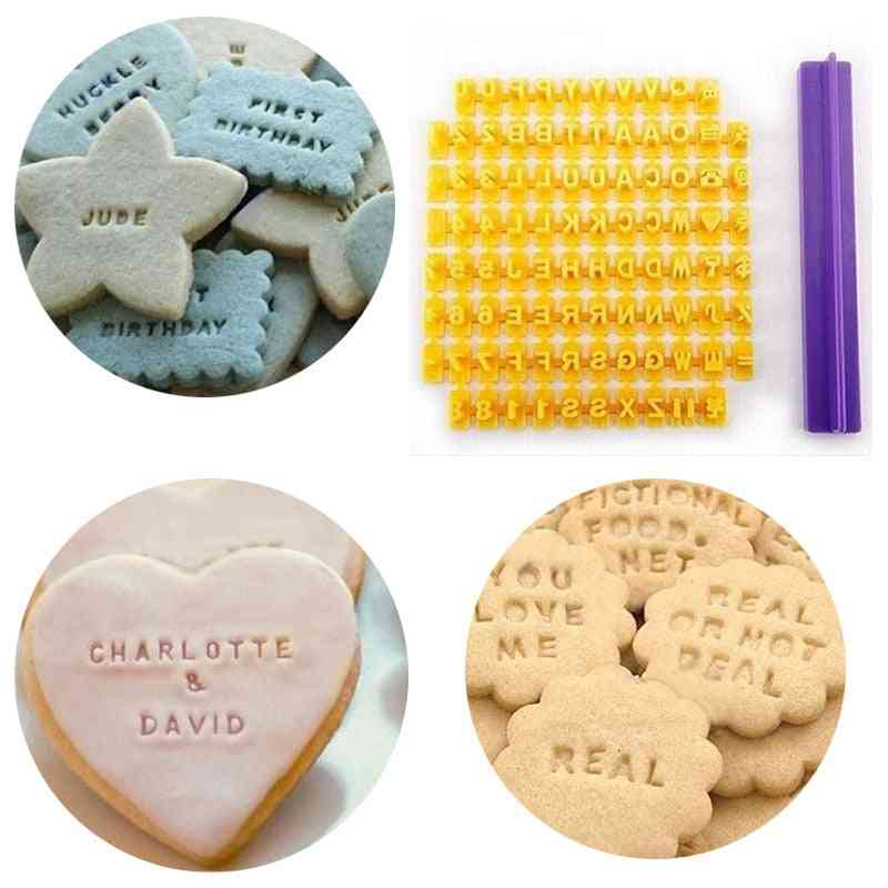 Alphabet Letter/number Cookie Press Stamp, Cake Baking, Fondant Molds Tools