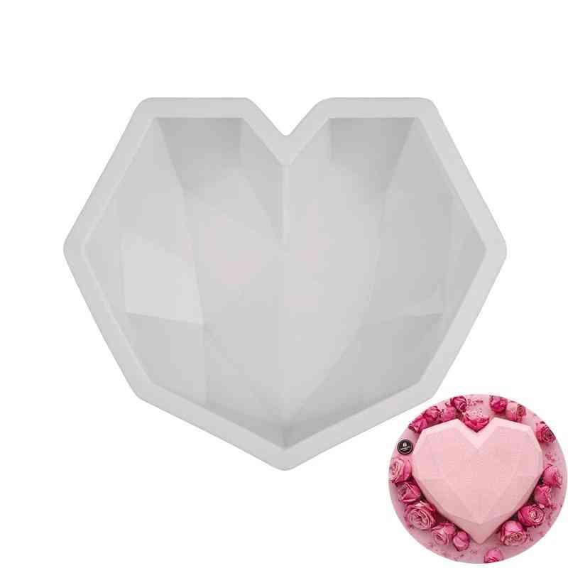 3d Diamond Love Heart Shape Silicone Molds For Baking Mousse Dessert Cake