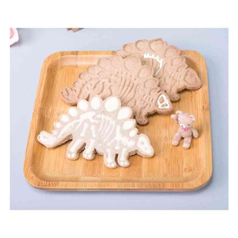 3d Dinosaur Cookies Cutter Mold Biscuit / Dessert Baking Cake Decor Tool