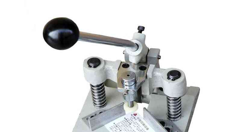 Small Manual Cut Round Machine