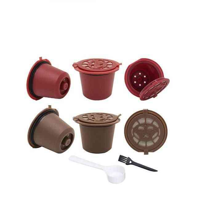 4pcs Nespresso Refillable Reusable Coffee Capsule Filters Cups Spoon (4pcs)