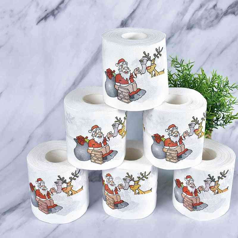 New Cute Christmas Pattern Toilet Tissue Pape (1 Roll)