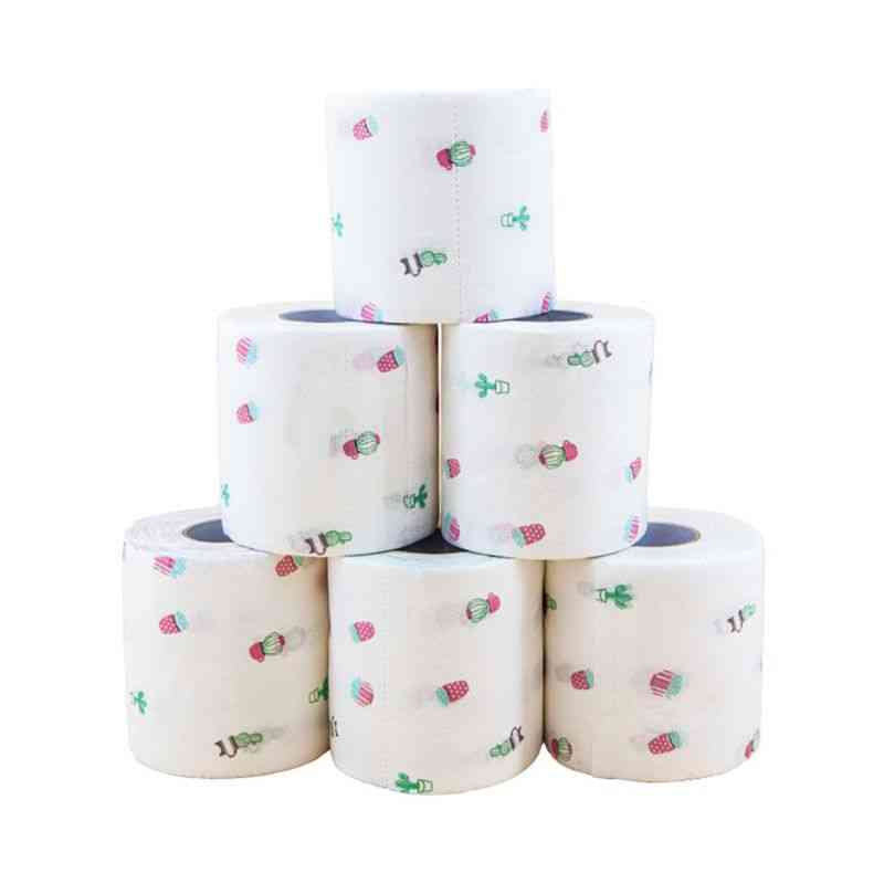 Funny Printed Pattern Toilet Tissue (white)