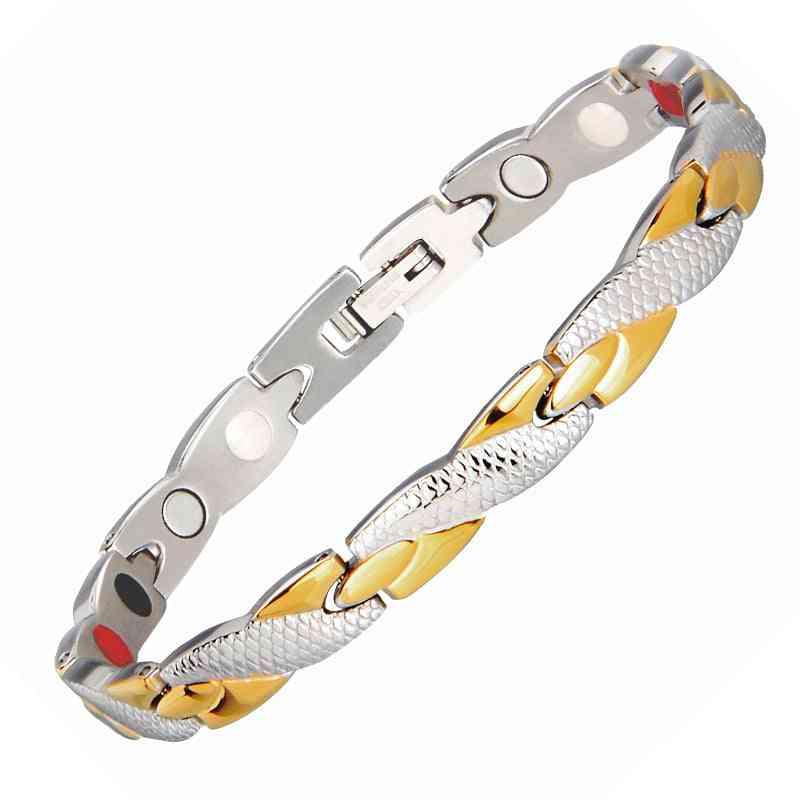 Magnetic Ion, Germanium Bracelet, Pulseras Hombre, Chain Link