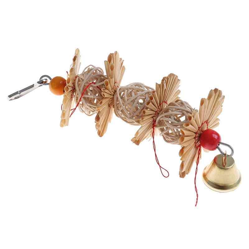 Wood Birds Standing, Chewing Rack, Bead Ball, Heart Star Shape Toy
