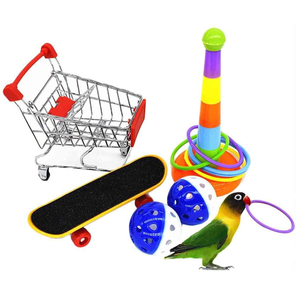 1 Set- Gnaw Training, Interactive Parrot Appliance, Bird Toy Set