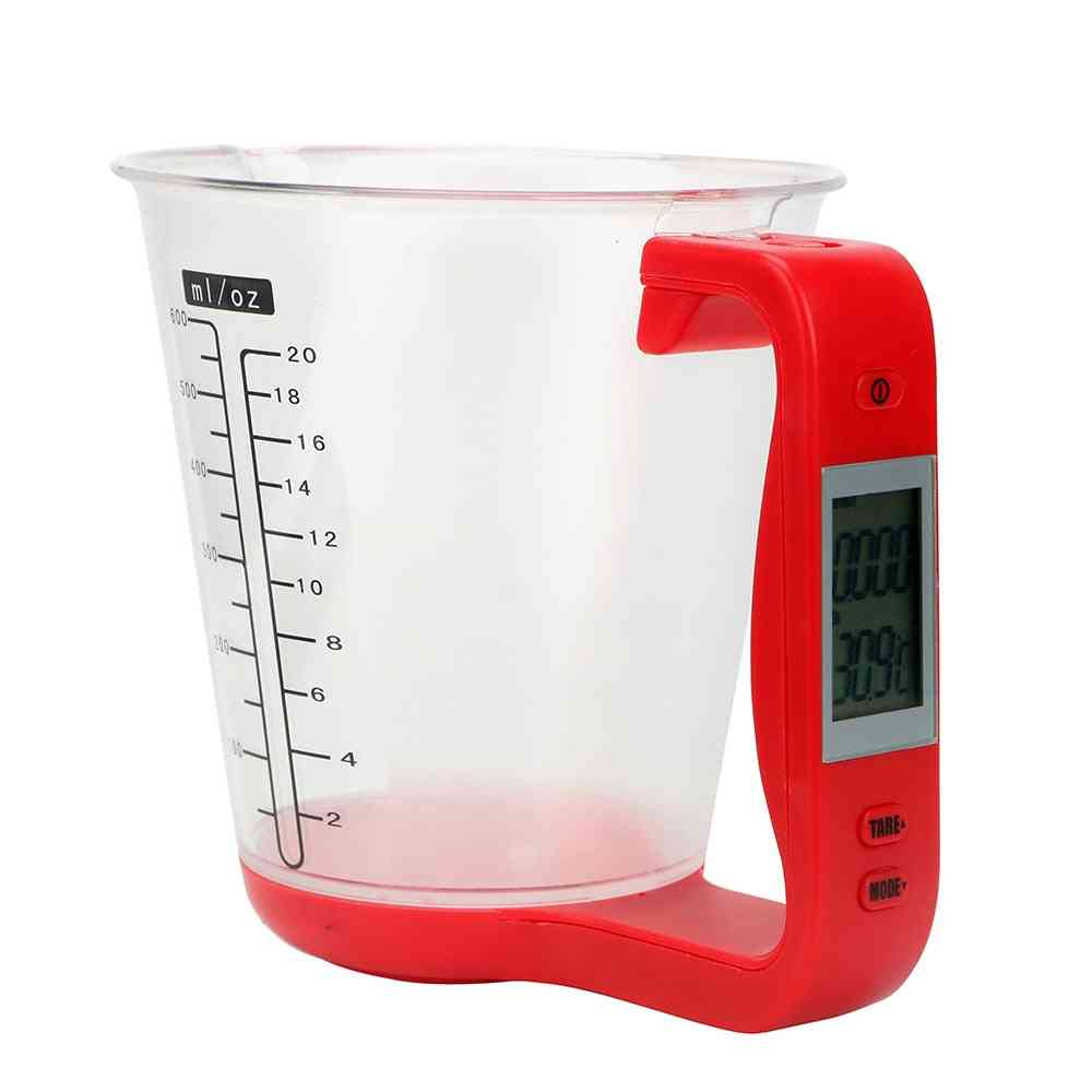 Host Weigh Temperature Measurement Cups With Lcd Display
