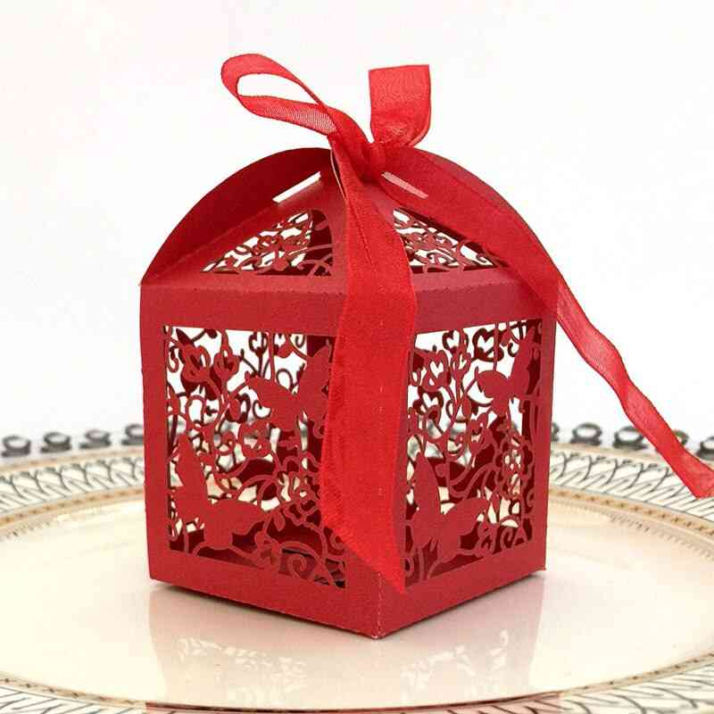 Candy Boxes With Ribbon For Party