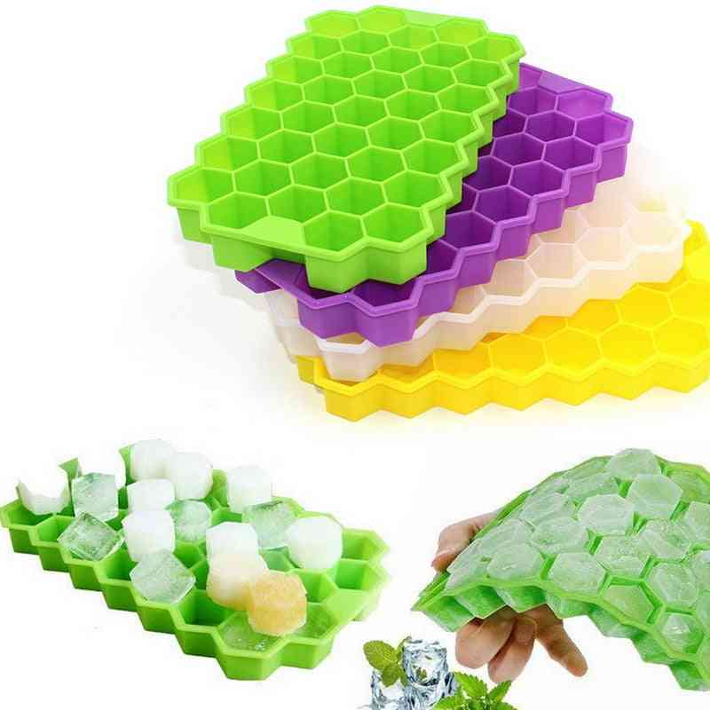 Easy-release Silicone Honeycomb Ice Cube Molds Tray For Wine/whiskey