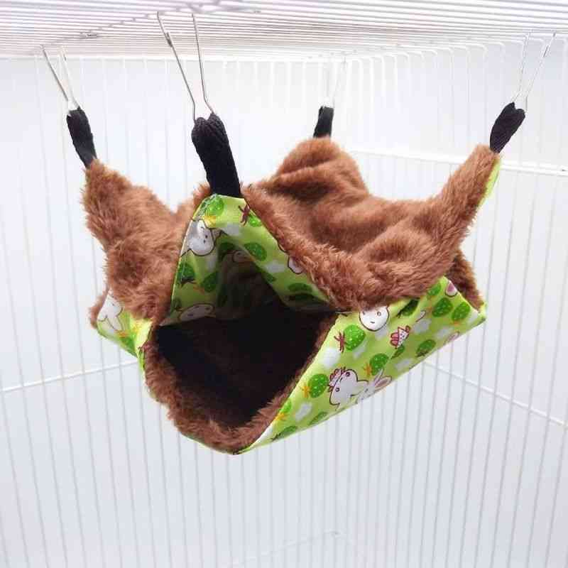 Pet Hammock Double-layer Plush Soft Winter Warm Hanging Nest
