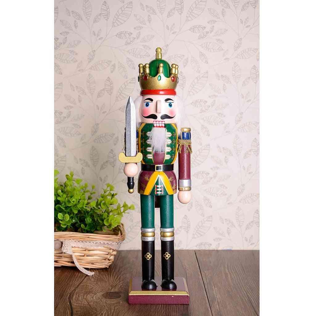 Wooden Nutcracker Figurine Doll, Ornaments Decoration