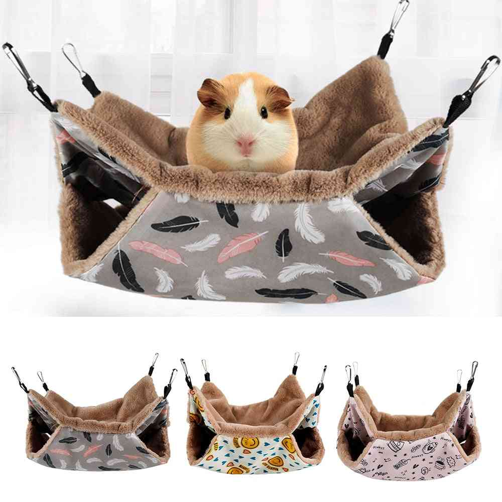 Small Pet Hanging Warm Bunk Hammock Bed Cage Accessories