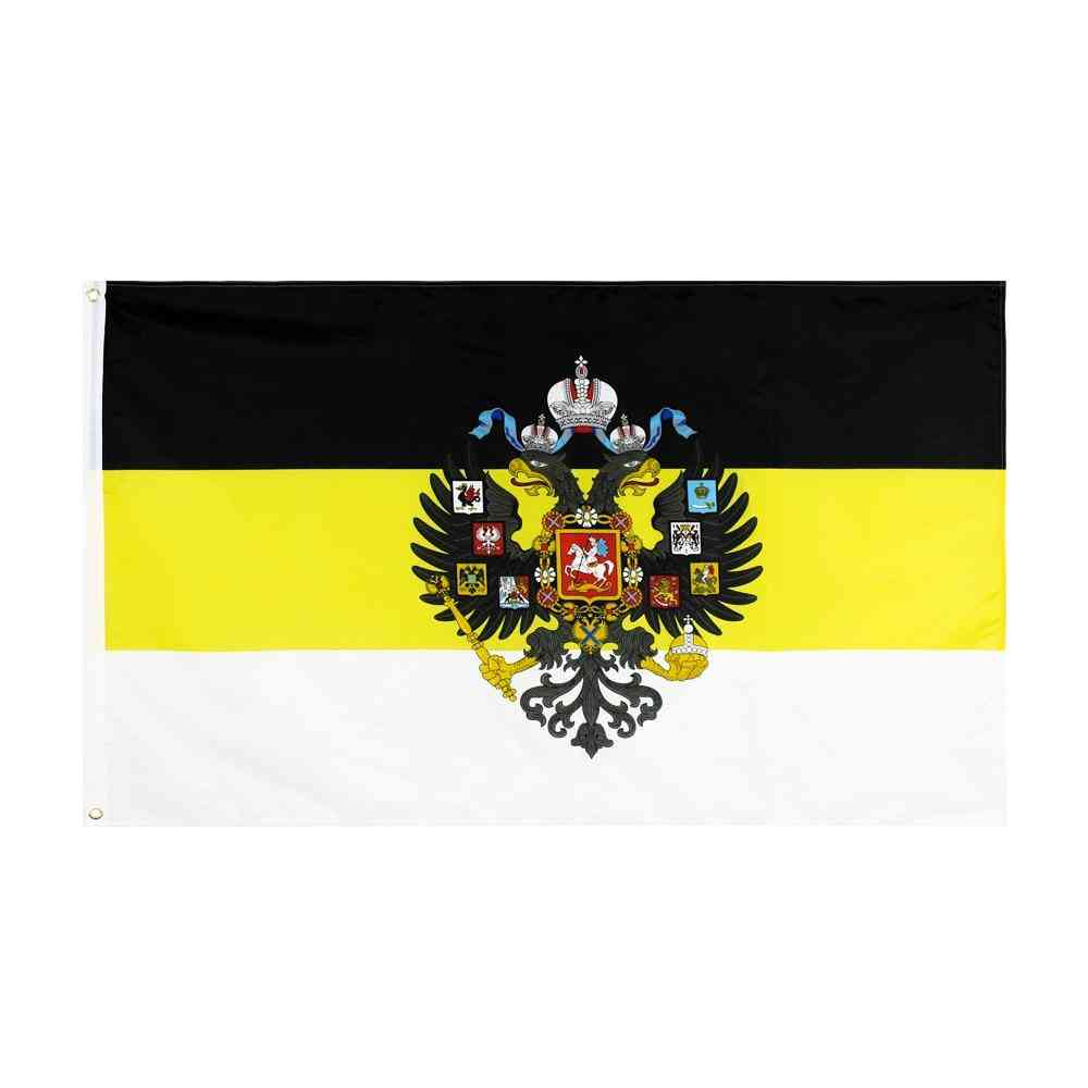 Russian God With Us Eagle Russia Imperial Empire Flag