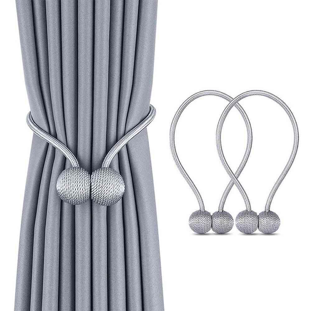 Magnetic Ball Curtain Tiebacks Tie Rope & Rods Accessories Backs/holdbacks Buckle Clips & Hook Holder