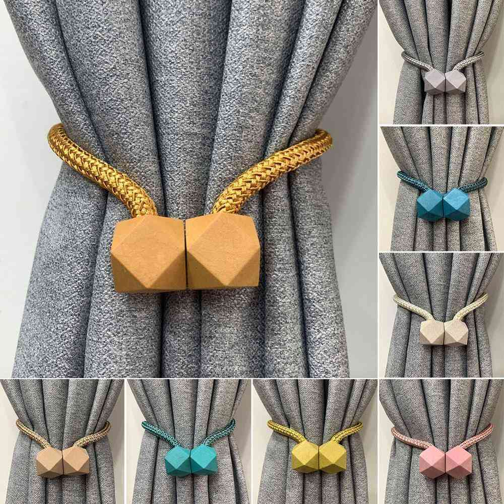 Tieback Multifaceted Ball Magnetic Curtains Buckle Tie Backs Shower And Curtain Holder Wall Balls