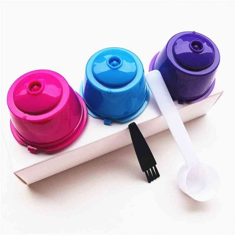 Reusable Coffee Capsule Filter Cup/spoon/brush