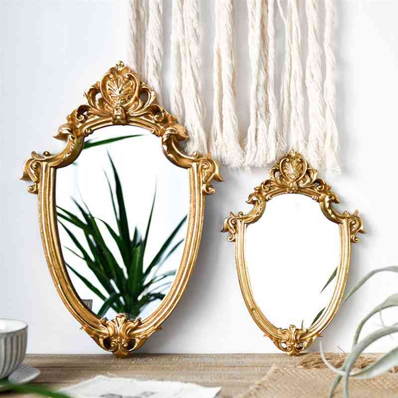 Vintage Mirror Exquisite Makeup Mirror, Bathroom Wall Hanging, Lady Home Decor