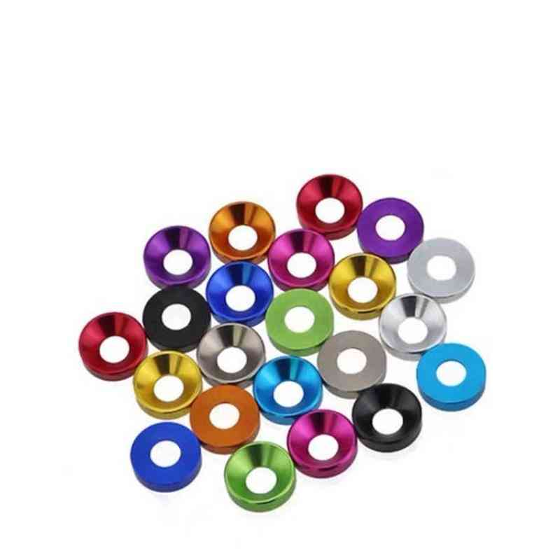 Aluminum- Colorful Anodized Countersunk, Head Bolt Washers Gasket