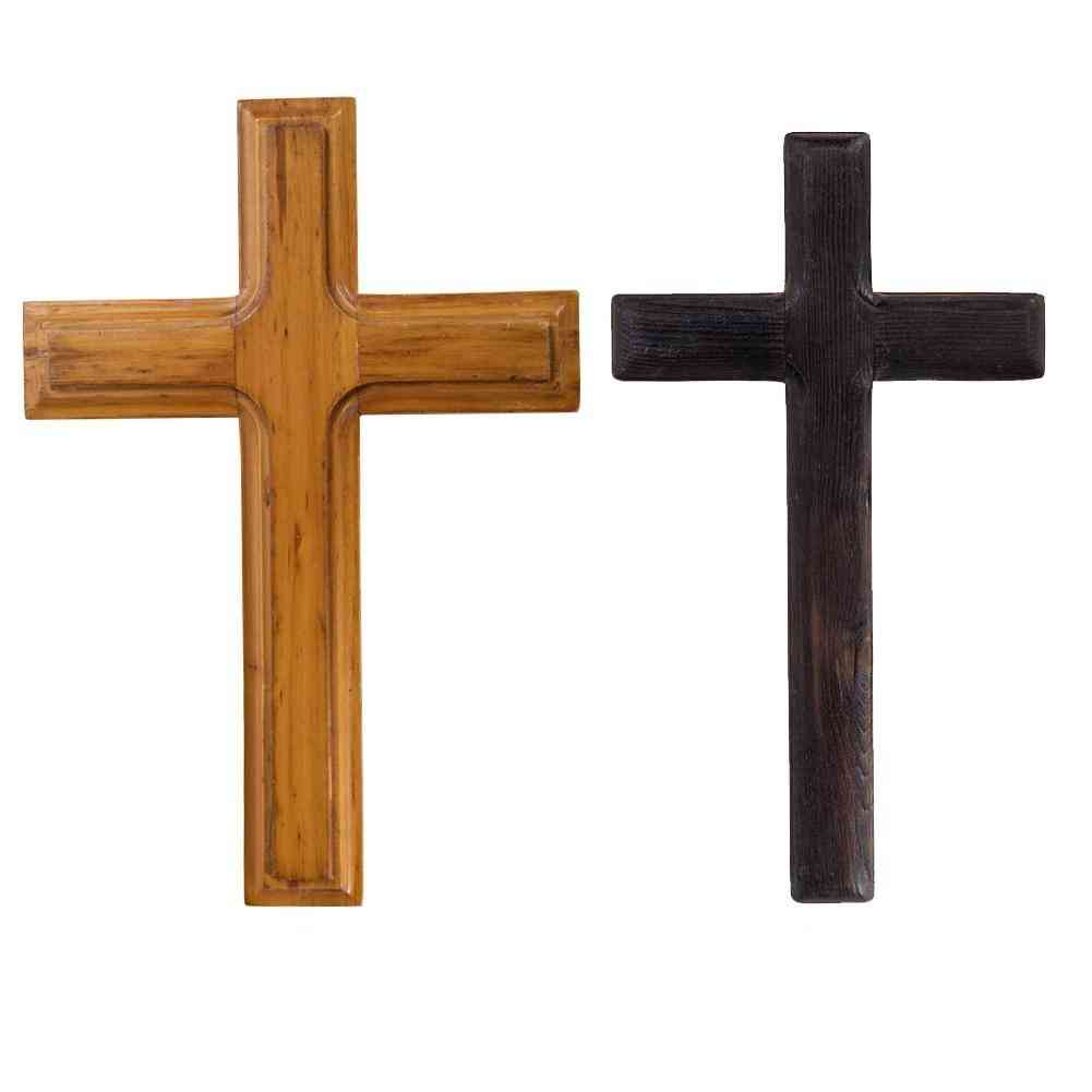 Office Jesus Christ Bedroom Catholic Crucifix Handmade Solid Wooden Cross