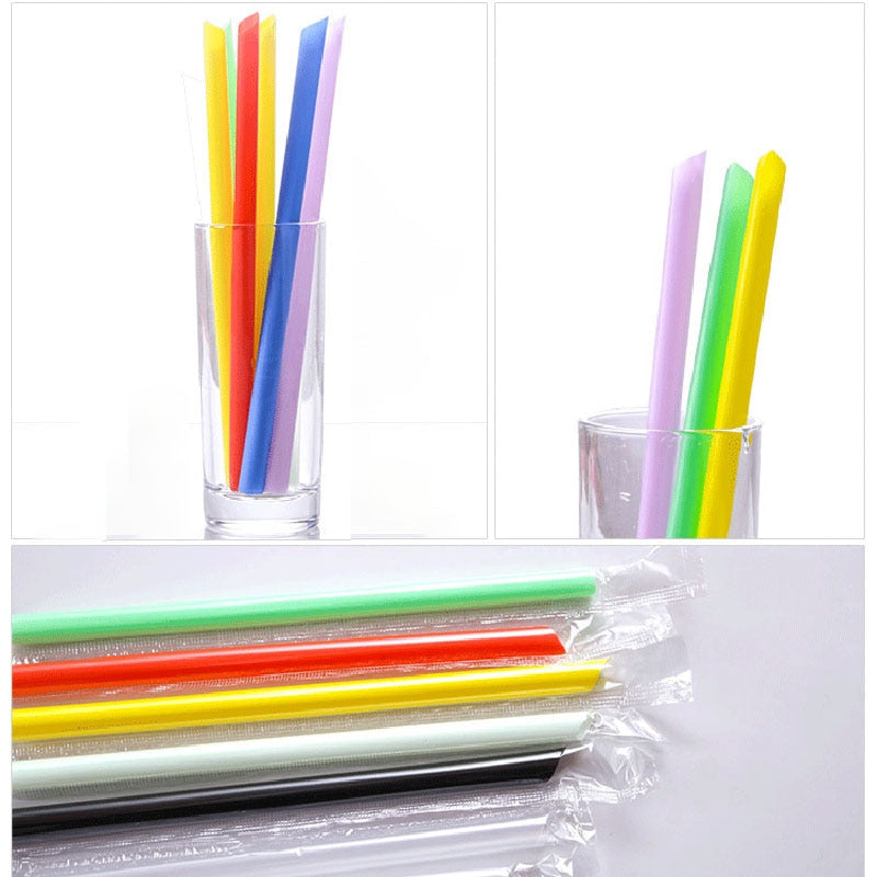 Mixed Colors- Plastic Disposable Drinking, Beverage Straws