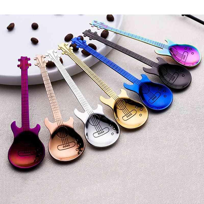 Stainless Steel- Guitar Shaped, Love Coffee Spoon