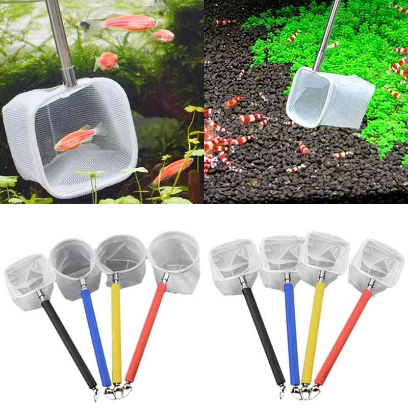 3d- Stainless Steel, Fish Tank Shrimp Scoop, Round & Square Pocket, Catching Net