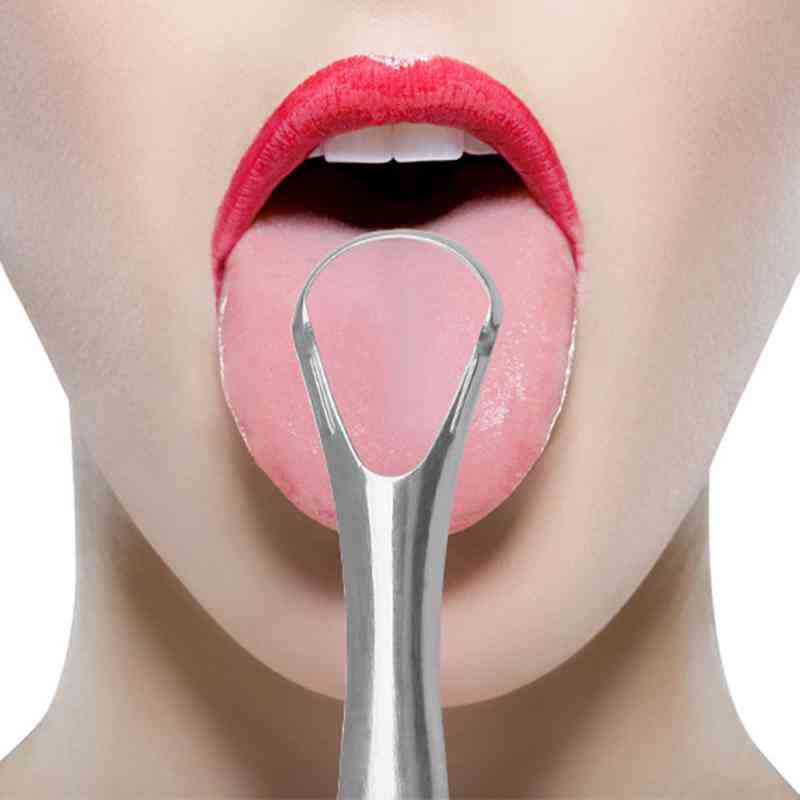 Tongue Cleaner Stainless Steel Scraper Reusable Tongue Scraper For Oral Care