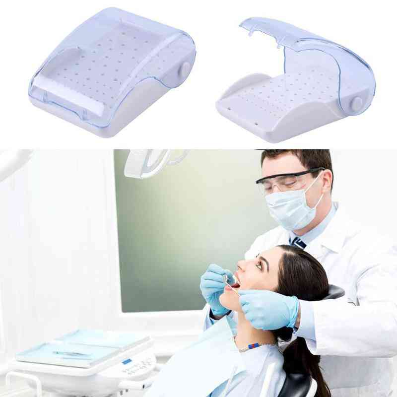 60 Holes Drill Placement Box Dental Tools, Dentist Drill Box Disinfection Holder