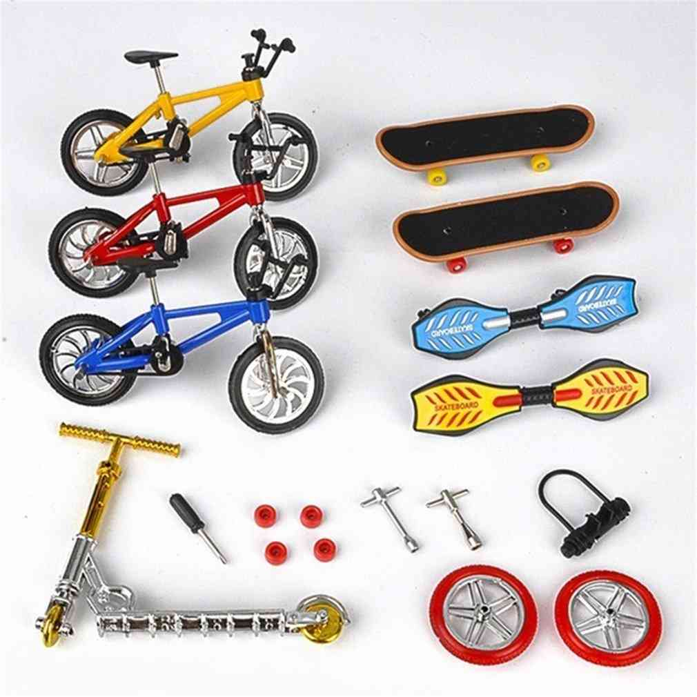 Finger Bicycle Finger Skateboard Toy Set Bicycle+skateboard+vitality Board+scooter