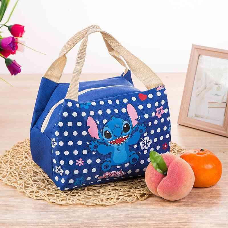 Disney Cartoon- Insulation Stitch, Cute Barbecue, Plush Doll Lunch Bag