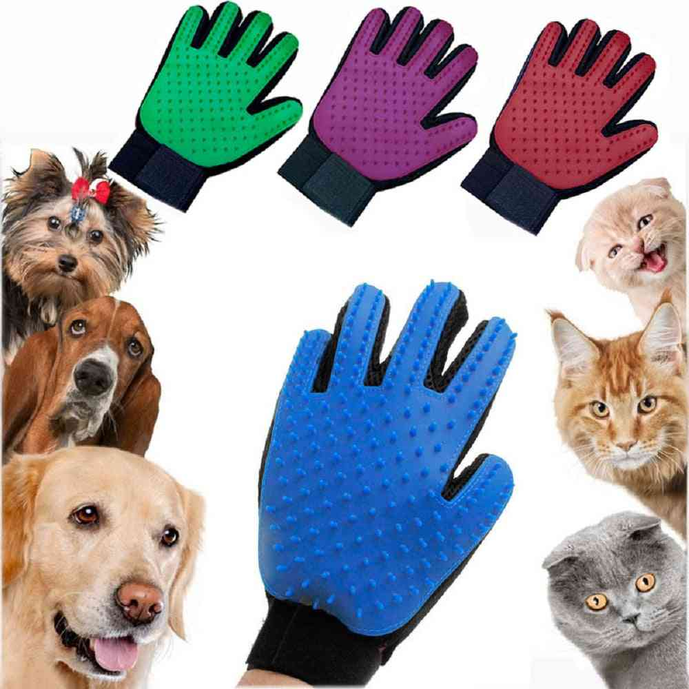 Cat Grooming Glove- Hair Remove Brush, Cleaning Combs Massage For Cat, Dog