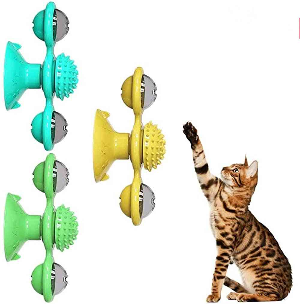 Scratch Hair Brush- Grooming Shedding, Suction Cup Catnip, Cats Puzzle Training Toy