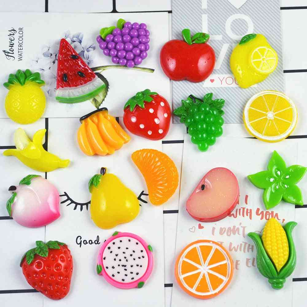 10pcs- Colorful Fruit Charms Filler, Stress Relief, Polymer Addition Slime Toy