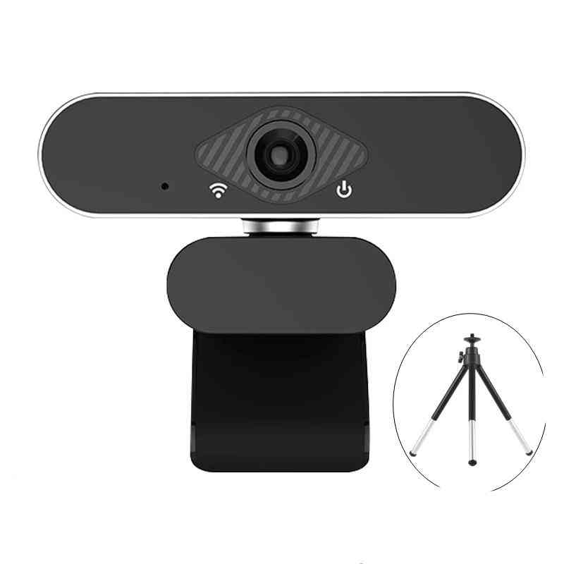 1080p Web Camera For Pc With Microphone Usb, Webcam Widescreen Video, Teaching Live With Stand