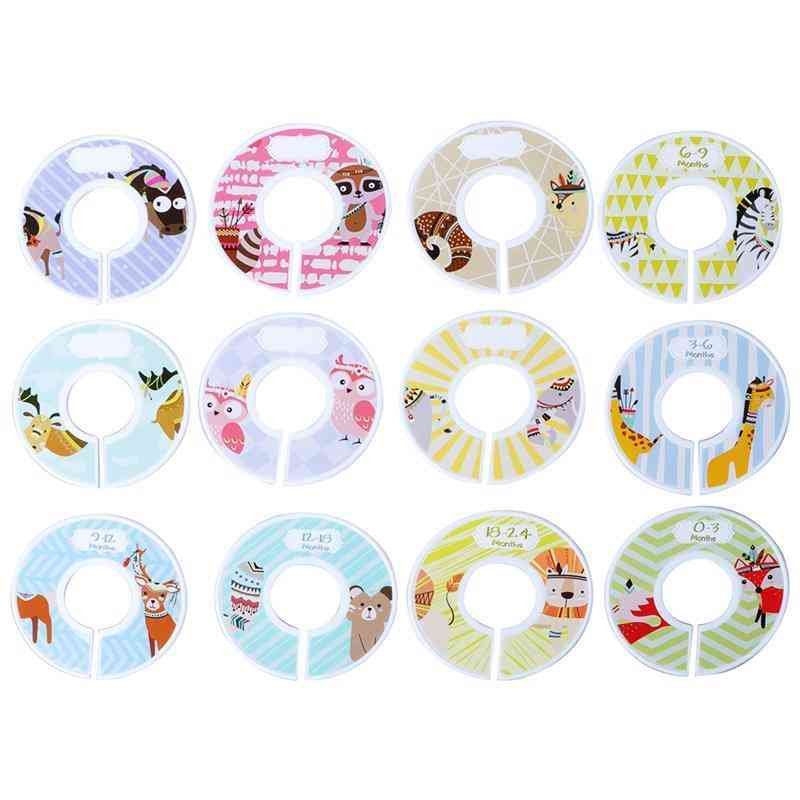 Plastic Clothing- Circle Round Hangers, Closet Dividers For Wardrobe