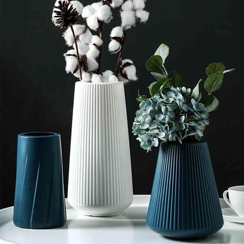 Plastic Vase, Ceramic Flower, Pot Basket For Home Decoration