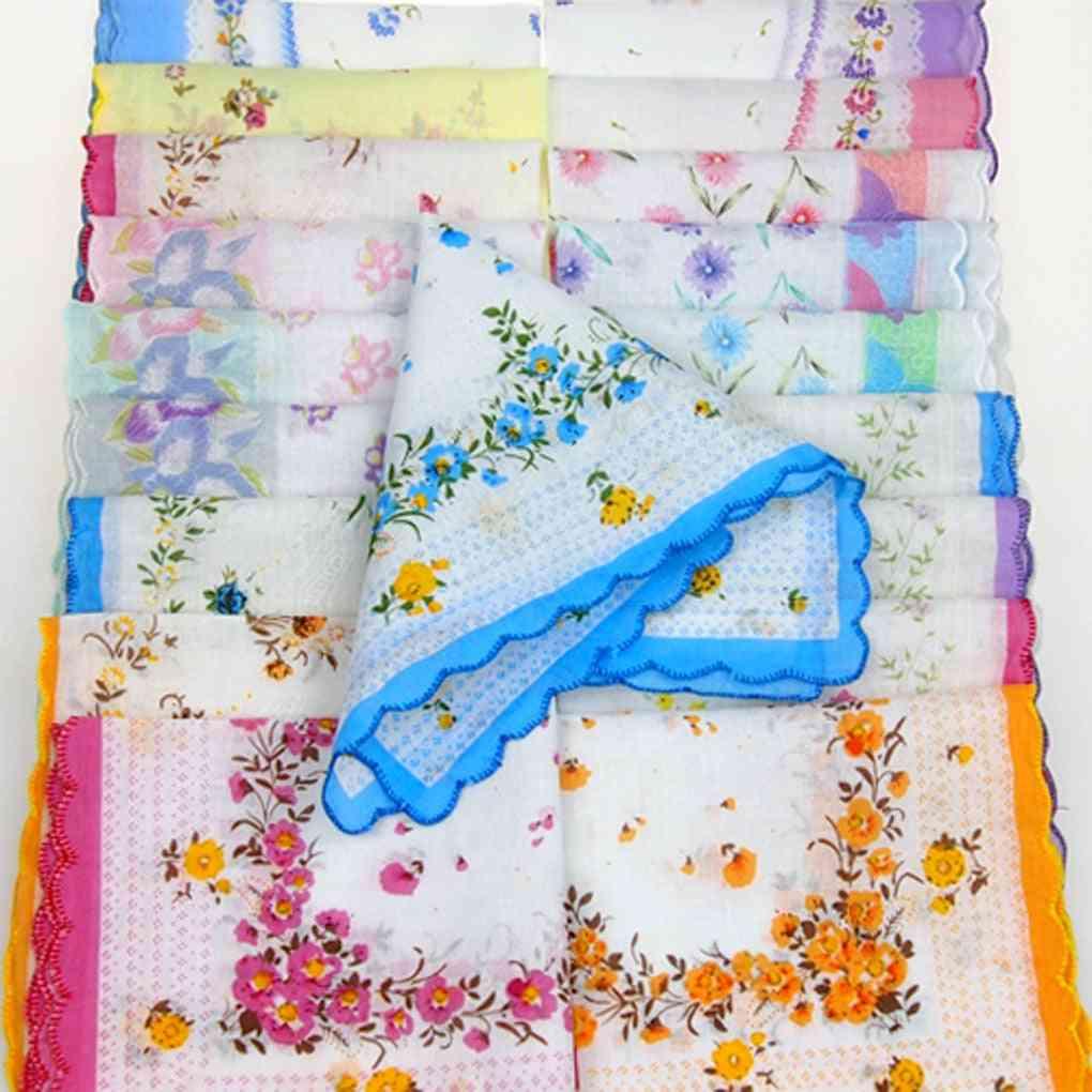 Colorful Handkerchief Antique Floral (handkerchief)