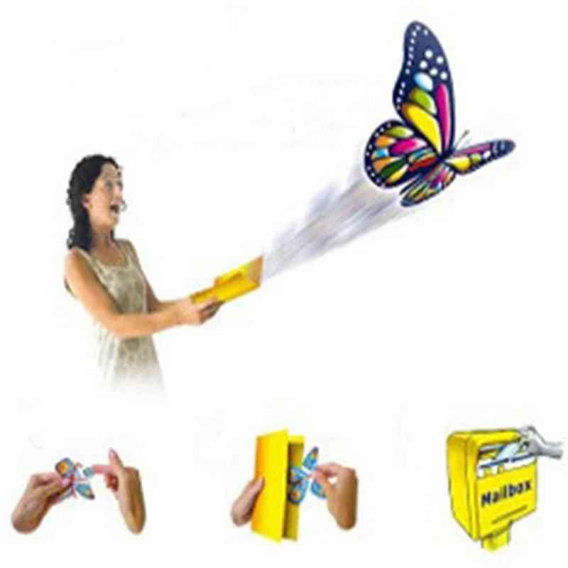 Hailing Flying Butterfly Steel Frame Magic Props Fun Prank For Shocker (random Color Onesize)