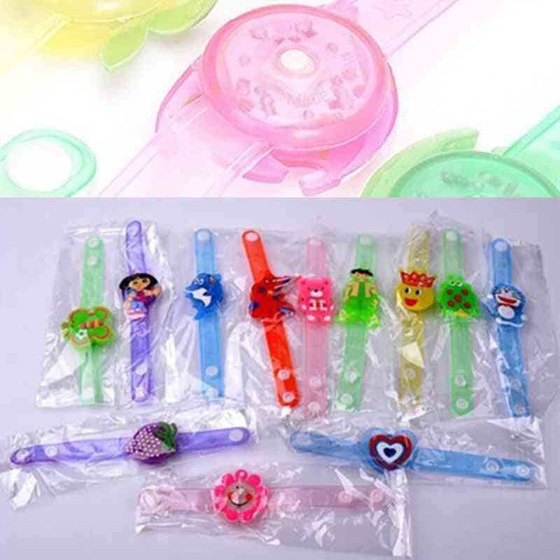 Cute Kid Watch Wrist Strap Band With Luminous Led Lights For Sport Electronic (random Color 1pcs)
