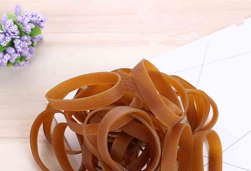 Solid Color 50*10mm Rubber / Elastic Bands, Stationery Holder Package