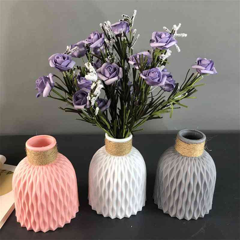 Home Decor Anti-ceramic Plastic Imitation Rattan Flower Vase