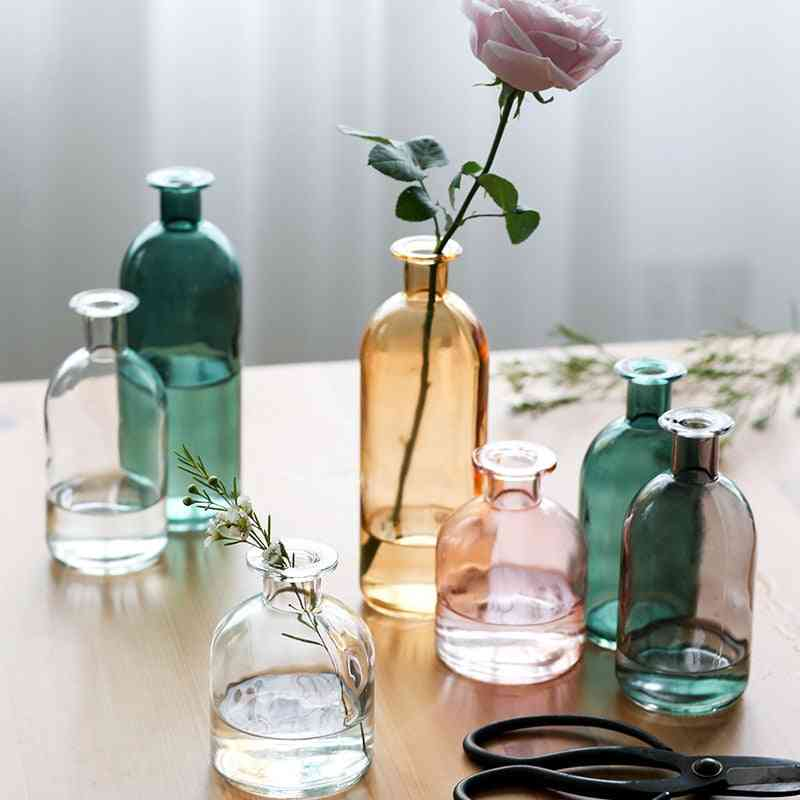 Living Room Dried Flowers Nordic Ins Style Glass Vase