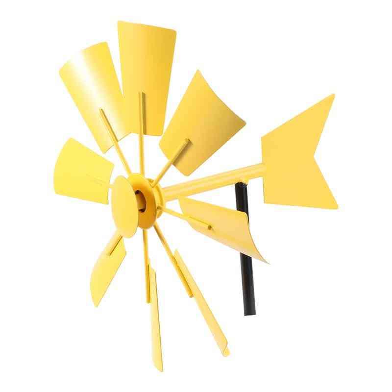 Iron Windmill Yard, Winnower Garden Flower Ornament