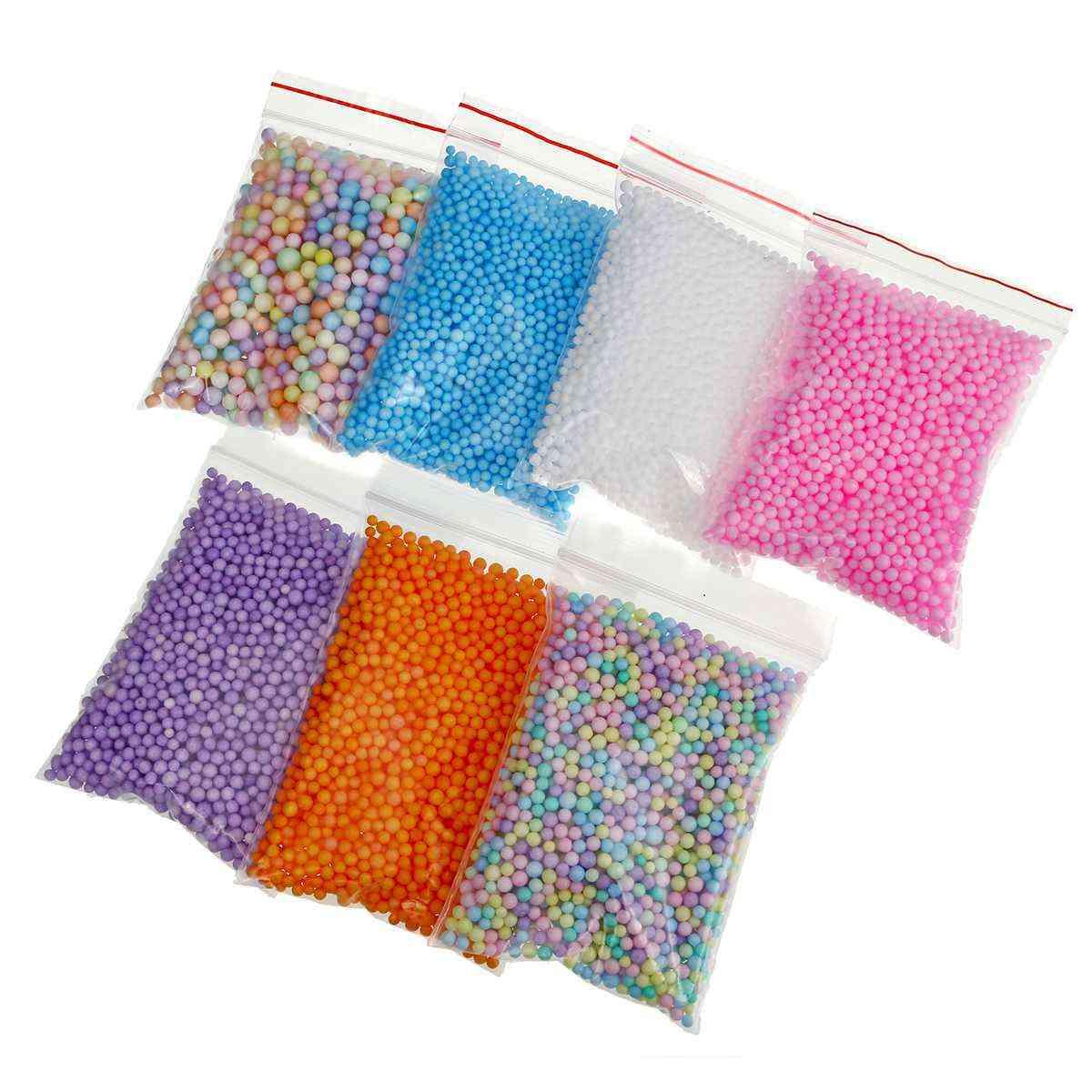 Slime Stuff, Charm Fishbowl Beads, Glitter Pearls Color, Foam Ball Set