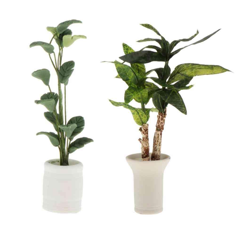 Dollhouse Miniatures In Pot Plants Garden Decoration Ornaments