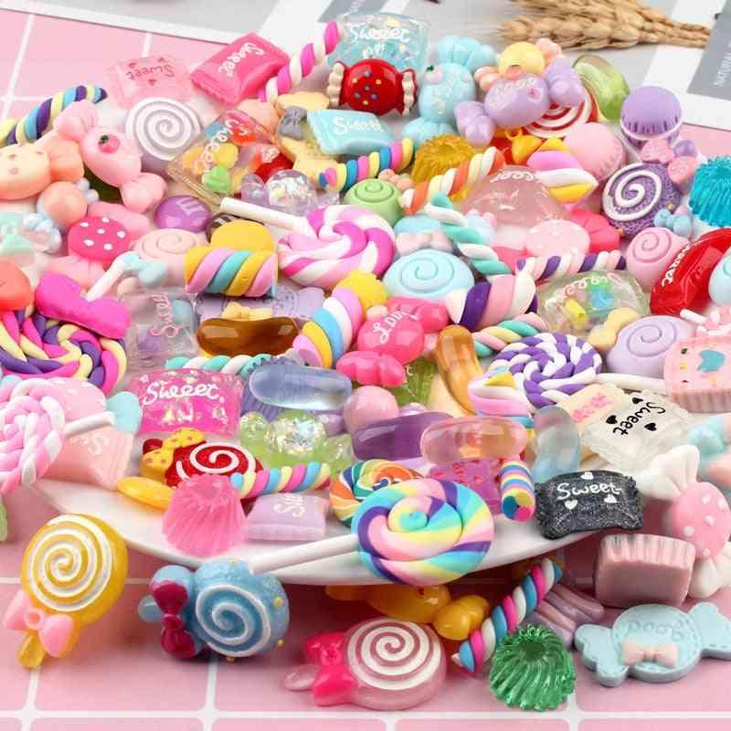 Diy Colorful Candy Cake Chocolate Crystal Resin Slime