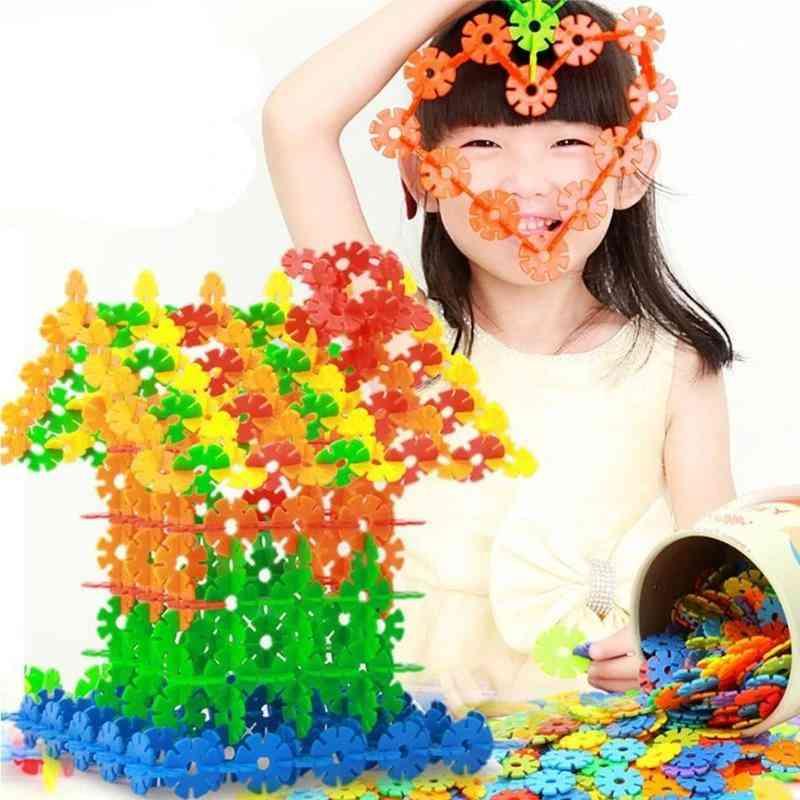 3d- Jigsaw Plastic Snowflake, Building Model Puzzle, Educational