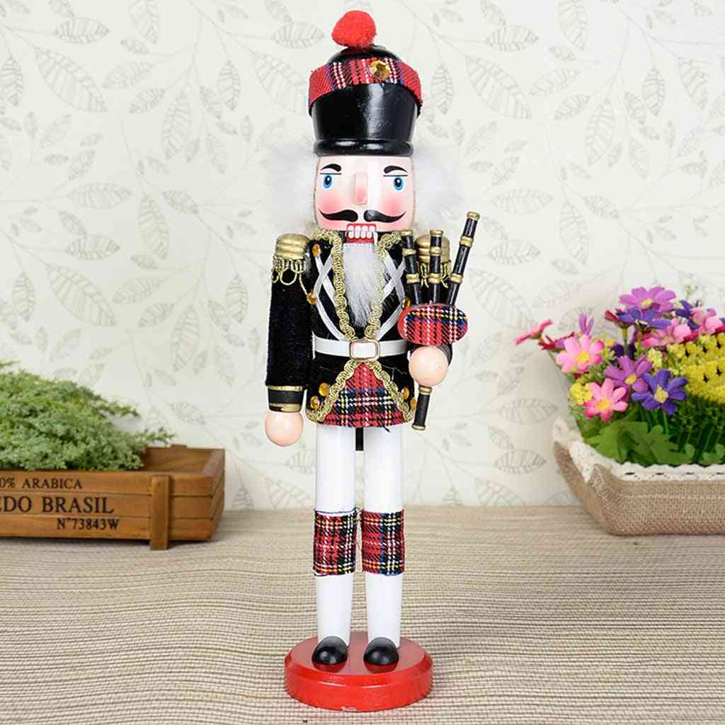 Hand Painted, Bagpipes And Soldier Nutcracker For Christmas Decor